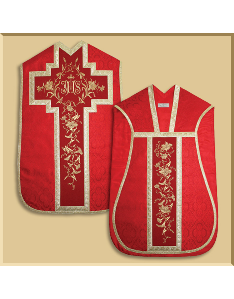 Roman Low Mass Set - Floral IHS - All Liturgical Colors