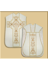 Roman Low Mass Set with IHS in Ornate Cross - Various Colors