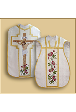 Roman Low Mass Set with Embroidered Crucifixion  - All Liturgical Colors