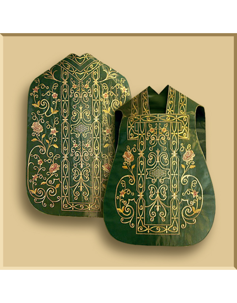 Elaborate Machine Embroidered Roman Low Mass Set - Three Colors