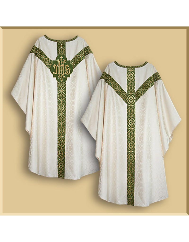 Semi-Gothic Low Mass Set - White Damask with Various Orphreys