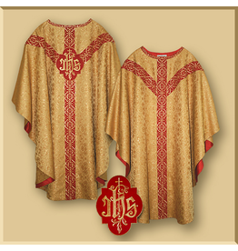 Semi-Gothic Style Low Mass Set - Gold Brocade Fabric