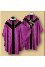 Semi-gothic Low Mass Set with IHS or PAX & Velvet Orphreys - Various Colors