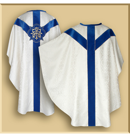 Semi-Gothic Low Mass Marian Set - Dark Blue Orphreys