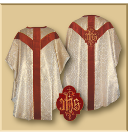 Semi-Gothic Low Mass Set in Gold/Color Brocade - Red, Green, Purple or White
