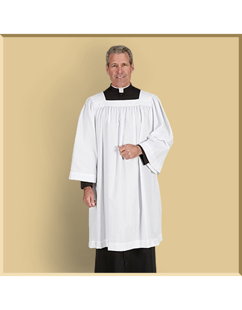 Square Neck Clergy Surplice
