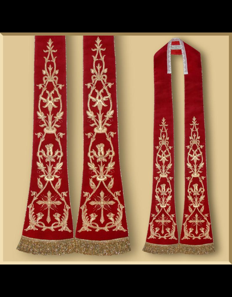 Velvet Roman Stole III - Various Colors