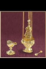 Sudbury Brass Cast Brass Censer Set