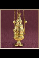 Sudbury Brass Ornate Censer with 12 Bells