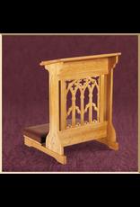 Canterbury Padded Kneeler ~ Medium Oak Finish