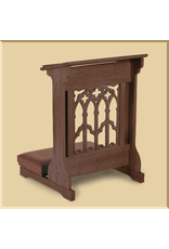 Canterbury Padded Kneeler ~ Walnut Finish