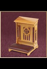 Robert Smith Florentine Padded Kneeler ~ Medium Oak Finish
