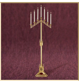 Sudbury Brass San Pietro 7-Light Floor Candelabra - Adjustable