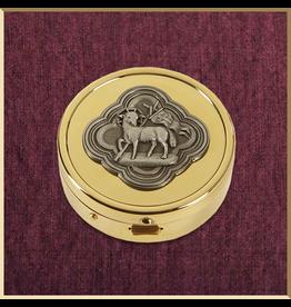 Sudbury Brass Agnus Dei Pyx-Gold Plated