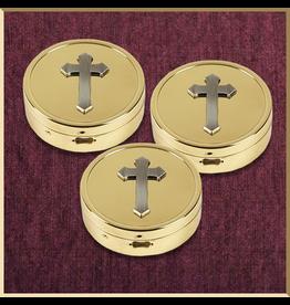 Sudbury Brass Three Cross Embossed Pyxes