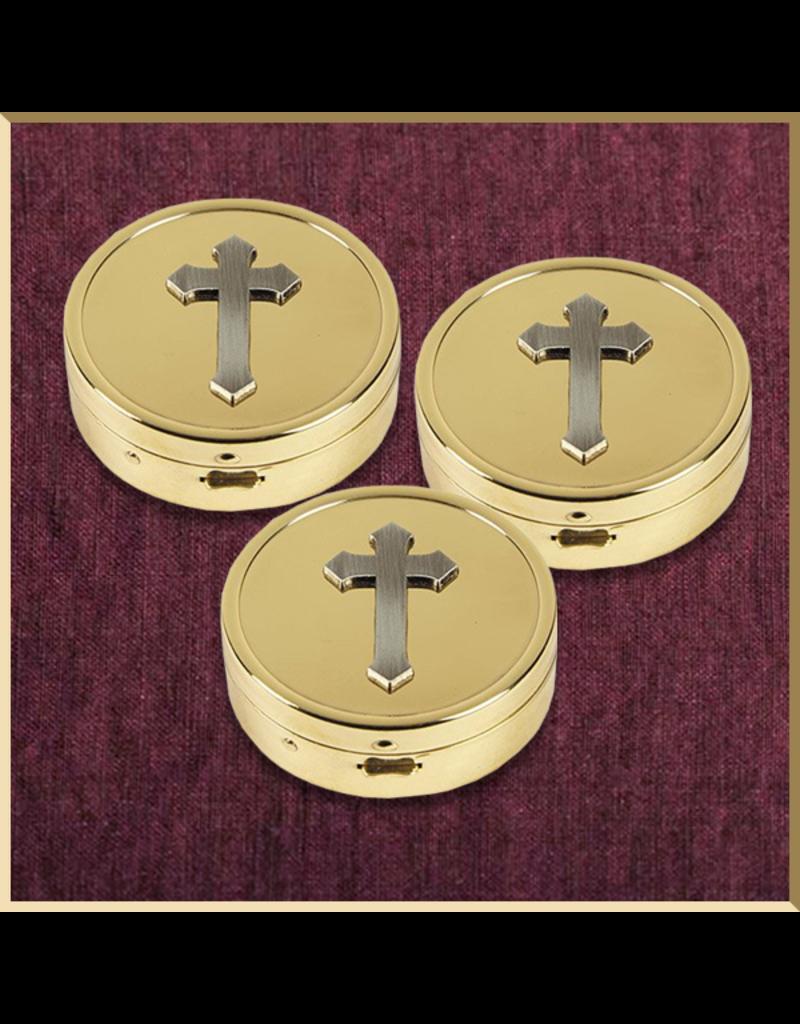 Sudbury Brass Cross Embossed Pyx