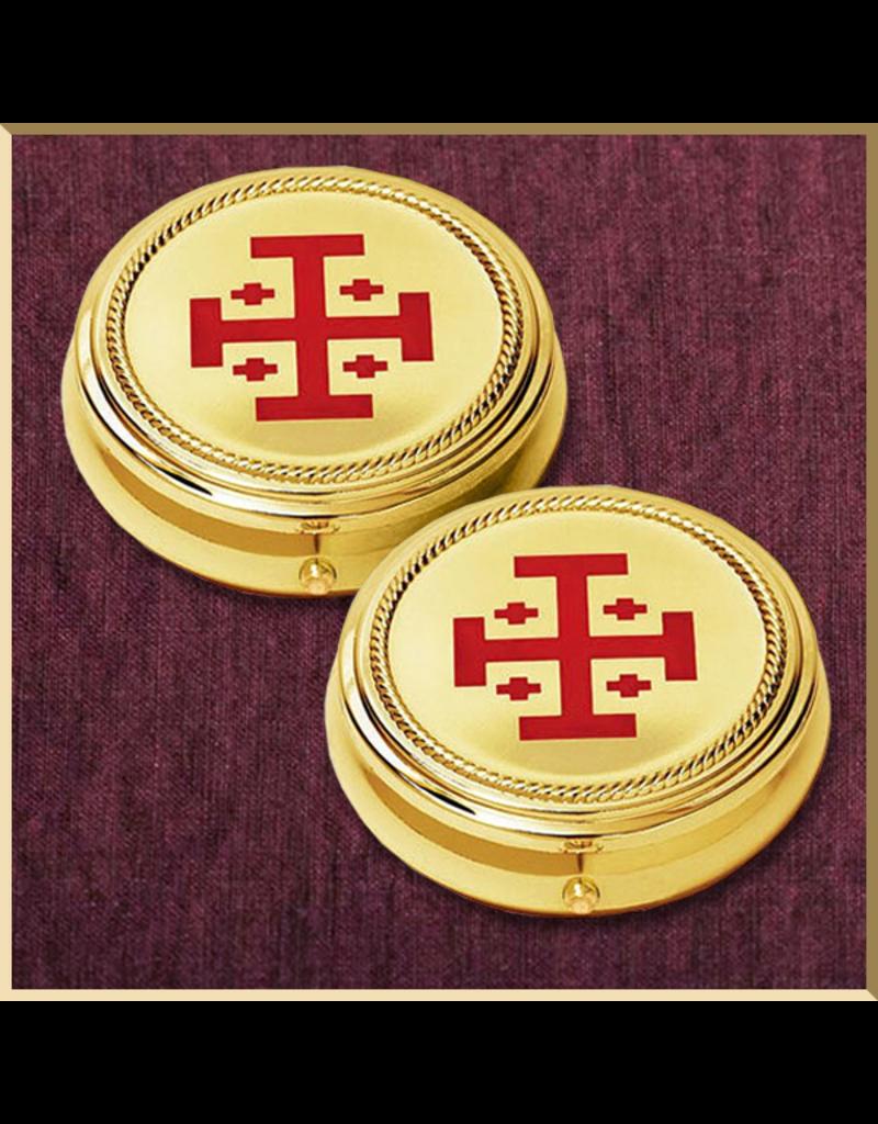 Sudbury Brass Jerusalem Cross Hospital Pyxes