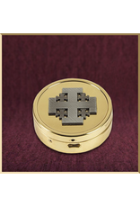 Sudbury Brass Jerusalem Cross Embossed Pyxes