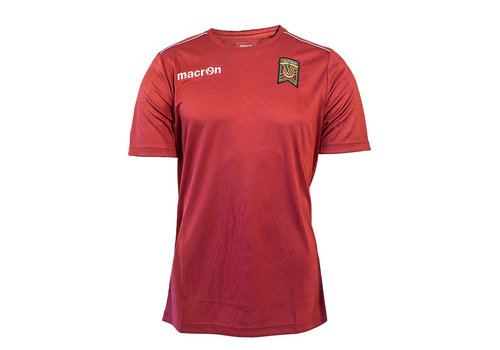 Macron Youth Maroon Player Training Shirt