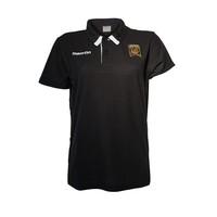 Women's Black Crest Polo
