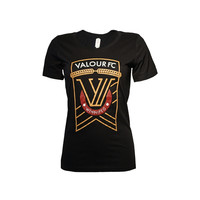 Women's Black Valour FC Tee