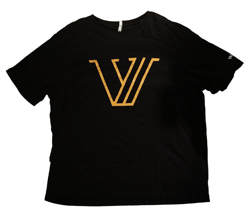Black Valour FC Gold V Tee