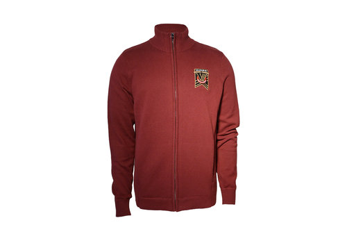 Trimark Sportswear Group Lockhart Full Zip Maroon Sweater