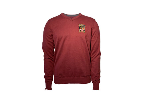 Trimark Sportswear Group Osborne V-Neck Maroon Sweater