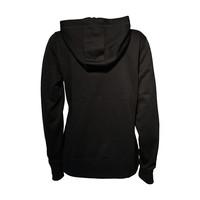 Ladies Fleece Full Zip Black Crest Hoodie