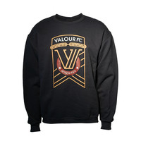 Valour Crest Black Crew Neck