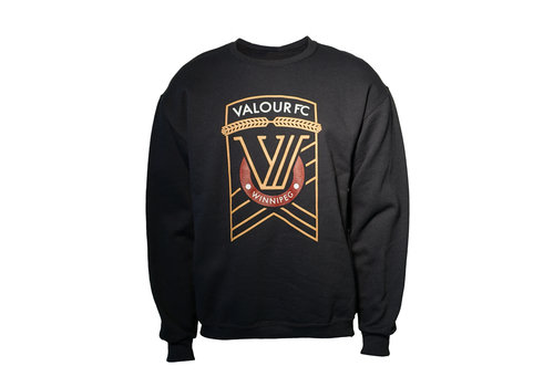 ESA Valour Crest Black Crew Neck