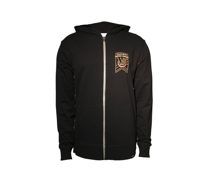 Valour Crest Element Full Zip Hooded Fleece