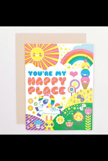 happy place unicorn card
