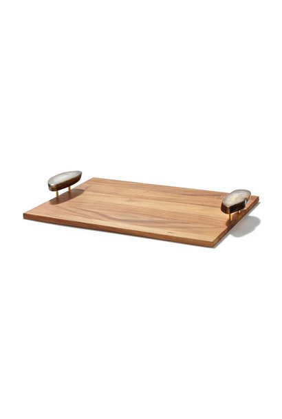 polished agate tray
