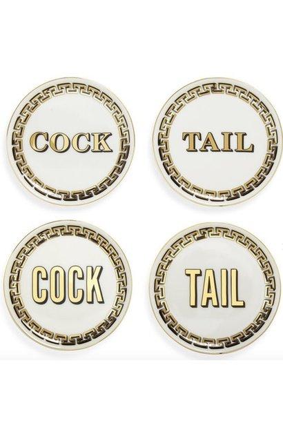 cock/tail coaster set
