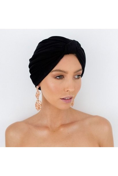 dahlia black shower turban