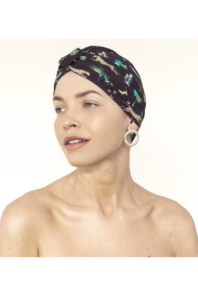 amelie dark tropics shower turban