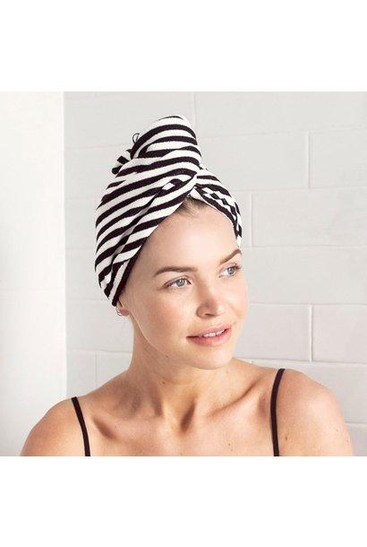 monochrome stripe hair wrap