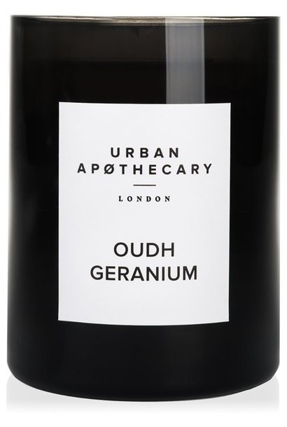 oudh geranium luxury candle