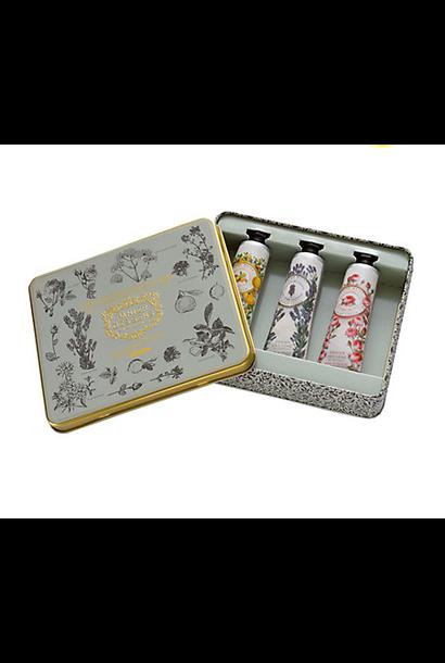3 Hand Creams Gift Set (Honey, Almond, Grape)