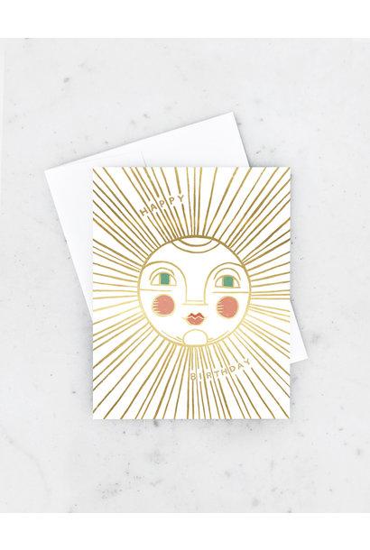 golden sun birthday card