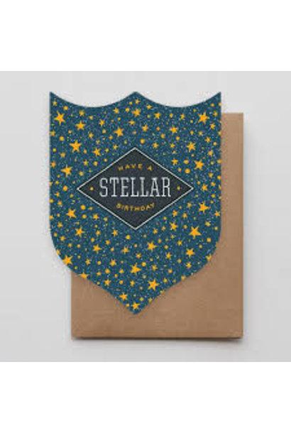 stellar birthday badge card