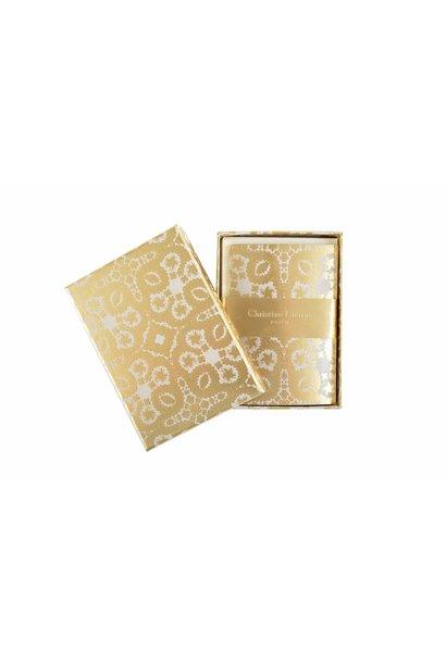 oro y plata correspondence notecards