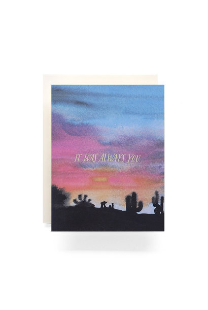 sunset always you card