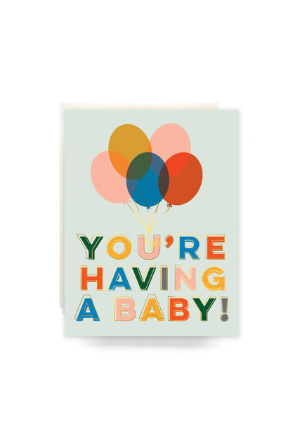 balloons baby card
