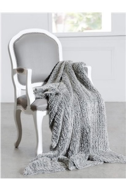 luxe knit throw fog