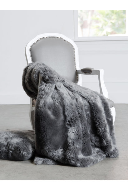luxe loft throw gray