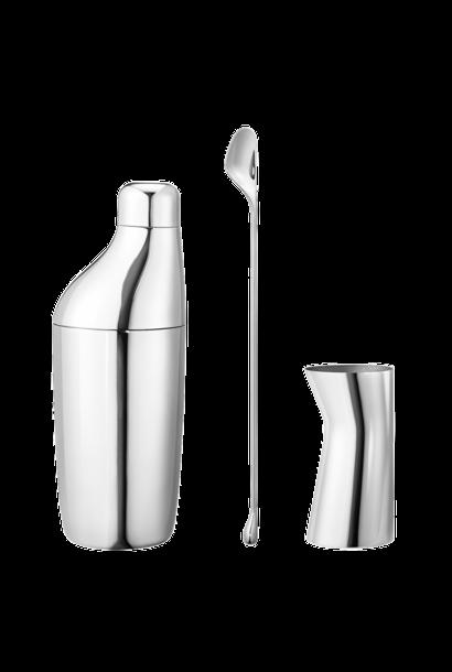 aurelien barbry sky giftset: shaker, stirring spoon & jigger