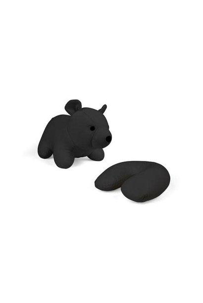 zip & flip black bear travel pillow