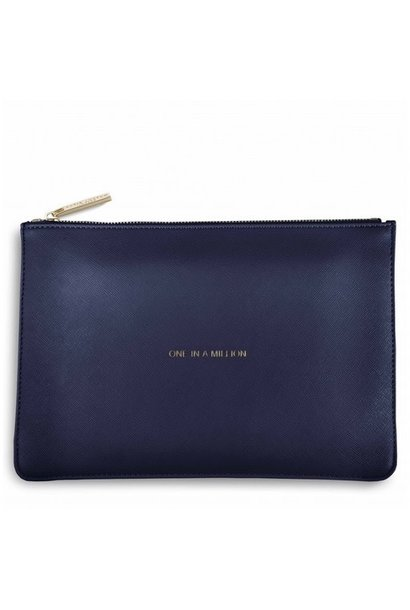 one in a million''- navy pouch